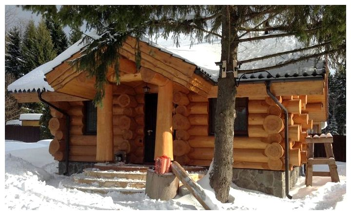 Деревянные дома из бревна: фото, одноэтажные проекты
