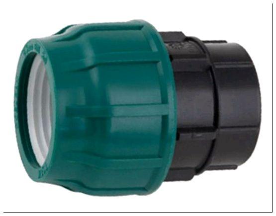 Пластиковая компрессионная муфта для полиэтиленовых труб