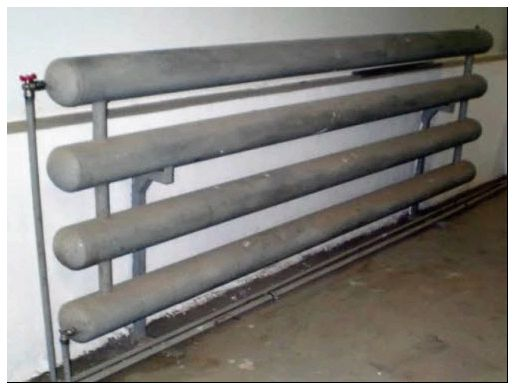 Любительское фото отопительной системы из обычных стальных труб