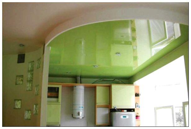 ремонт потолка в кухне