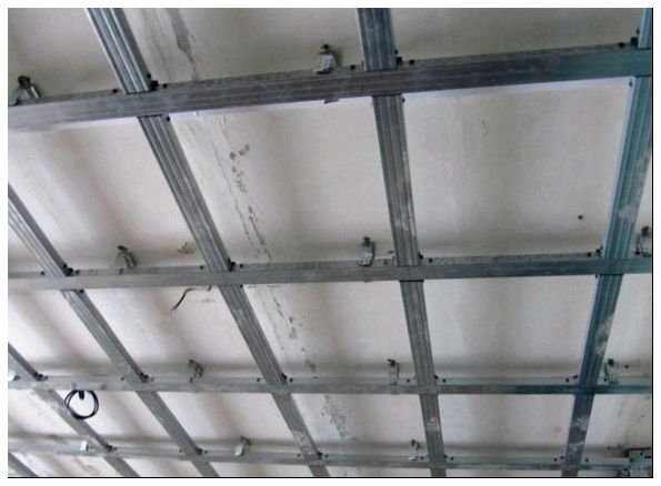 устройство гипсокартонного потолка