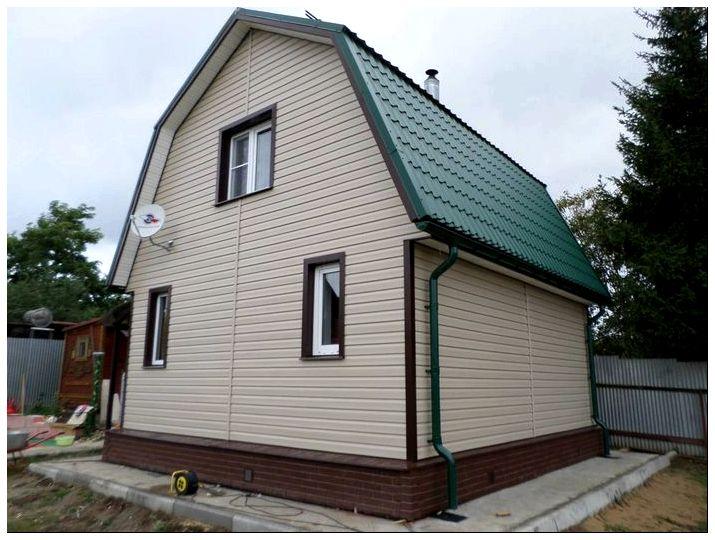 Отделка сайдингом фасада дома по низкой цене за м2 в Москве недорого