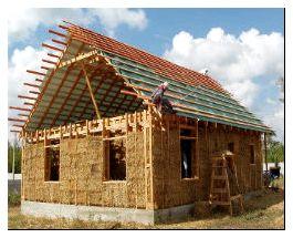 Дом утепленный опилками с цементным раствором