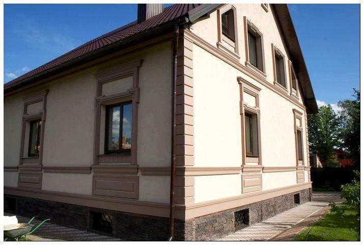 Фотографии вариантов отделки фасадов домов